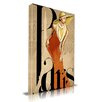 """Maxwell Dickson """"Jolie"""" Fashion Graphic Art on Wrapped Canvas"""