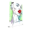 Maxwell Dickson 'Subtle' Portrait Fashion Painting Print on Wrapped Canvas