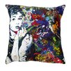 Maxwell Dickson Audrey Hepburn Throw Pillow