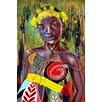 Maxwell Dickson 'Butterfly Princess' Graphic Art on Wrapped Canvas