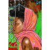 Maxwell Dickson 'Bassa Girl' Portrait Graphic Art on Wrapped Canvas