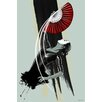 "Maxwell Dickson ""Fan Dancer"" Graphic Art on Canvas"