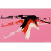 Maxwell Dickson 'AK-47' Graphic Art on Wrapped Canvas