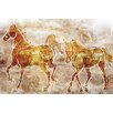 "Maxwell Dickson ""Horses on the Wall"" Graphic Art on Canvas"