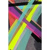 Maxwell Dickson 'Other Spectrum' Abstract Brush Graphic Art on Wrapped Canvas