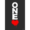 """Maxwell Dickson """"One Love"""" Textual Art on Canvas"""