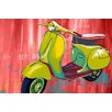 """Maxwell Dickson """"Vintage Scooter"""" Graphic Art on Canvas"""