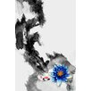 Maxwell Dickson 'WaterLily' Koi Fish Painting Print on Wrapped Canvas