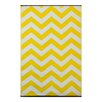 Green Decore Psychedelia Yellow/White Indoor/Outdoor Area Rug