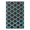 Green Decore Solitude Geometric Brown/Blue Indoor/Outdoor Area Rug