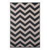 Green Decore Psychedelia Black/Beige Indoor/Outdoor Area Rug