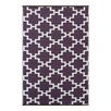 Green Decore Solitude Geometric Purple/White Indoor/Outdoor Area Rug
