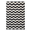 Green Decore Wave Hand-Woven Black/White Area Rug
