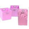 Modern Littles Rose Solid 3 Piece Organization Bundle Set