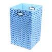 Modern Littles Sky Zig Zag Folding Laundry Basket