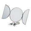 Danielle Creations 3-Way Silver Round Vanity Mirror