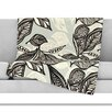 KESS InHouse Java Leaf Throw Blanket