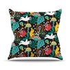 KESS InHouse Folk Fusion by Agnes Schugardt Rainbow Abstract Throw Pillow