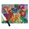 KESS InHouse Matisse Styled Lillies by Cathy Rodgers Rainbow Flower Cutting Board