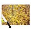 KESS InHouse Autumn Yellow by Ingrid Beddoes Cutting Board
