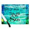 KESS InHouse Take Me to the Sea by Ebi Emporium Glitter Cutting Board