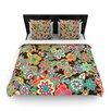 """KESS InHouse """"My Butterflies & Flowers"""" Woven Comforter Duvet Cover"""