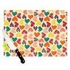 KESS InHouse Little Hearts Cutting Board