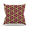 KESS InHouse Infinite Flowers Throw Pillow