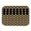 KESS InHouse Deco Angles Gold Black Placemat