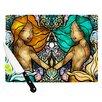 KESS InHouse Mermaid Twins Cutting Board