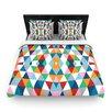 """KESS InHouse """"Geometric"""" Woven Comforter Duvet Cover"""