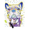 KESS InHouse Niko by Rebecca Fischer French Bulldog Cutting Board