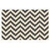 KESS InHouse Moonrise Chevron Ikat Doormat
