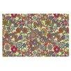 KESS InHouse Deco My Butterflies and Flowers Doormat