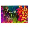 KESS InHouse Bloom Where You're Planted Doormat