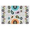 KESS InHouse Moda Paisley Flower Doormat