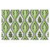 KESS InHouse Oak Leaf Floral Doormat
