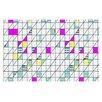 KESS InHouse Squares Abstract Geometry Doormat