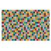 KESS InHouse Colour Blocks Geometric Rainbow Doormat