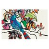 KESS InHouse Magic Garden Rainbow Bird Doormat