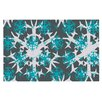 KESS InHouse Tree Snow Flakes Doormat