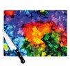 KESS InHouse Karma by Claire Day Rainbow Paint Cutting Board