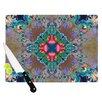 KESS InHouse Flowery by Danii Pollehn Floral Kaleidoscope Cutting Board