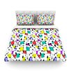 KESS InHouse My Happy Squares by Julia Grifol Light Duvet Cover