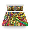 KESS InHouse Doodle by Roberlan Rainbow Abstract Duvet Cover
