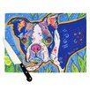KESS InHouse Addy Mae by Rebecca Fischer Pug Terrier Cutting Board