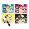 KESS InHouse CMYK Fashion by Roberlan Pop Art Cutting Board