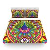 KESS InHouse Peacolor by Roberlan Rainbow Peacock Featherweight Duvet Cover