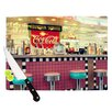 KESS InHouse Retro Diner by Sylvia Cook Coca Cola Cutting Board