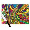 KESS InHouse Doodle by Roberlan Rainbow Abstract Cutting Board